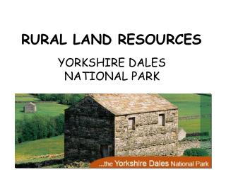 RURAL LAND RESOURCES