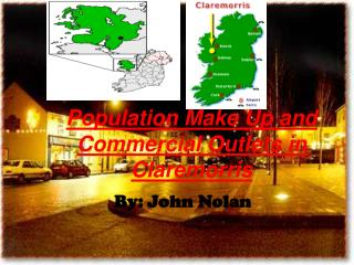 Population Make Up and Commercial Outlets in Claremorris