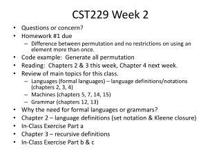 CST229 Week 2