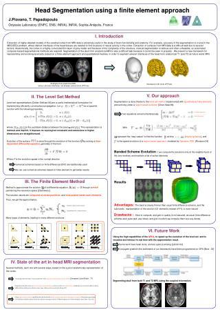 Head Segmentation using a finite element approach