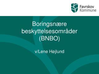 Boringsnære beskyttelsesområder (BNBO)