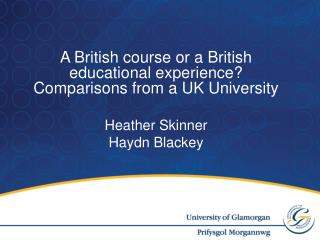 A British course or a British educational experience? Comparisons from a UK University