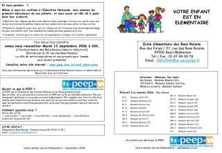 Ecole élémentaire des Bons Raisins  Rue des Folies / 27, rue des Bons Raisins