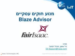 מנוע חוקים עסקיים Blaze Advisor
