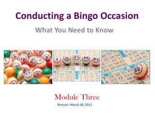 Conducting a Bingo Occasion