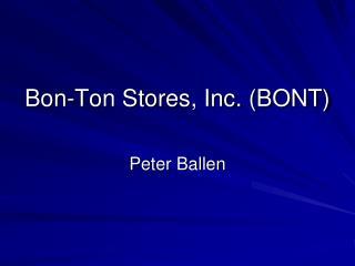 Bon-Ton Stores, Inc. (BONT)