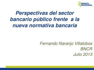 Perspectivas del sector bancario público frente a la nueva normativa bancaria