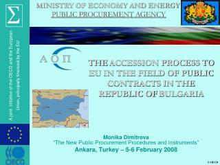 "Monika Dimitrova ""The New Public Procurement Procedures and Instruments"""