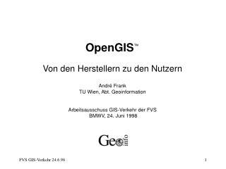 OpenGIS �