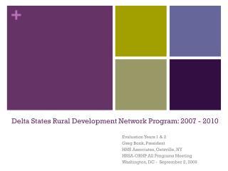 Delta States Rural Development Network Program: 2007 - 2010
