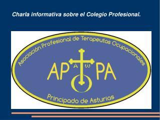 Charla informativa sobre el Colegio Profesional.