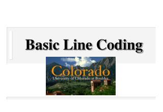 Basic Line Coding