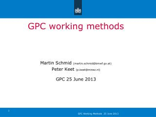 GPC working methods