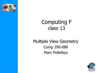 Computing F class 13