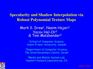 Specularity and Shadow Interpolation via Robust Polynomial Texture Maps