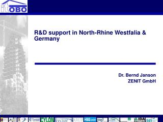 R&D support in North-Rhine Westfalia & Germany