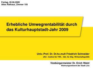 Erhebliche Umwegrentabilität durch das Kulturhauptstadt-Jahr 2009
