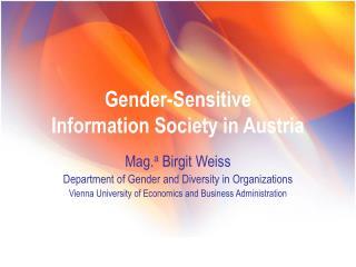 Gender-Sensitive  Information Society in Austria
