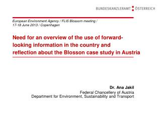 European Environment Agency / FLIS Blossom meeting / 17-18 June 2013 / Copenhagen