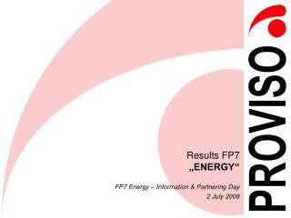 "Results FP7 ""ENERGY"""