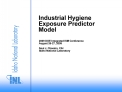 Industrial Hygiene  Exposure Predictor Model