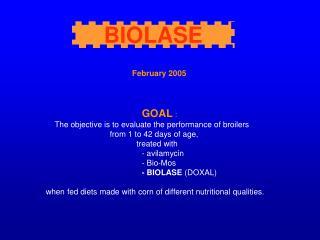 February 2005 GOAL  :