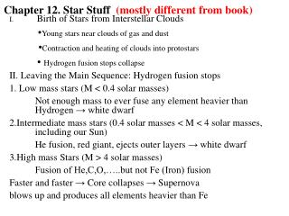 Chapter 12. Star Stuff   (mostly different from book)