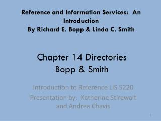 Chapter 14 Directories Bopp & Smith