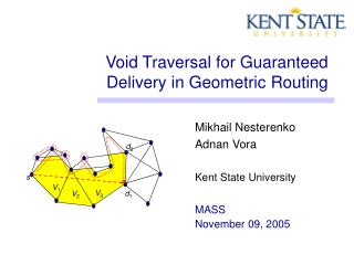 Void Traversal for Guaranteed Delivery in Geometric Routing