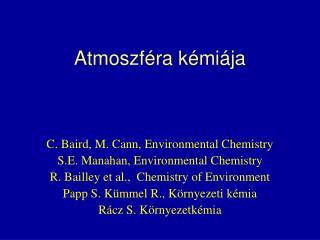 Atmoszf�ra k�mi�ja