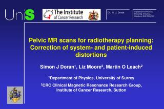 Pelvic MR scans for radiotherapy planning: Correction of system- and patient-induced distortions