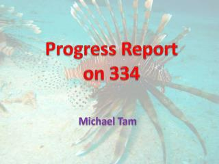 Progress Report on 334
