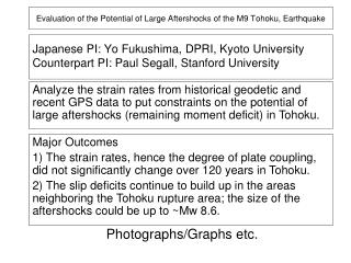 Evaluation of the Potential of Large Aftershocks of the M9 Tohoku, Earthquake