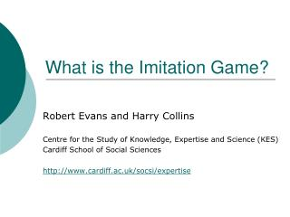 What is the Imitation Game?