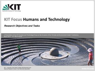 KIT Focus  Humans and Technology