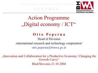 """Action Programme  """"Digital economy / ICT"""""""