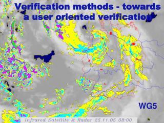 Verification methods - towards a user oriented verification