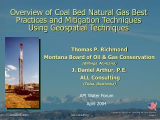 Thomas P. Richmond Montana Board of Oil & Gas Conservation (Billings, Montana)