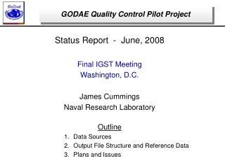 GODAE Quality Control Pilot Project