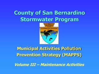 County of San Bernardino Stormwater Program