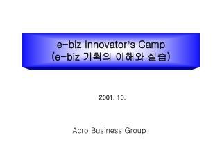 e-biz Innovator ' s Camp (e-biz  기획의 이해와 실습 )