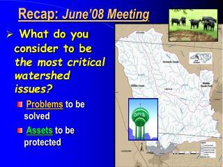Recap:  June'08 Meeting