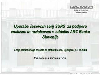 Monika Tepina, Banka Slovenije