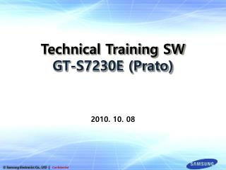 Technical Training SW GT-S7230E (Prato)
