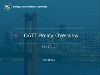 OATT Policy Overview