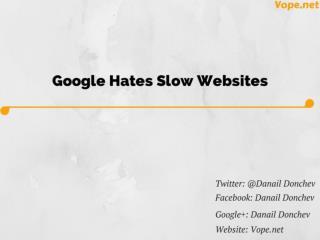 Google Hates Slow Websites