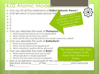 4.02 Atomic Models