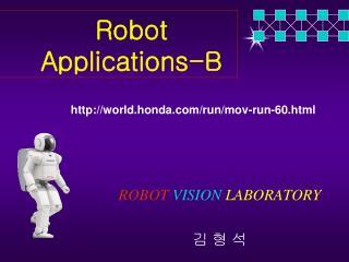 ROBOT VISION LABORATORY 김 형 석