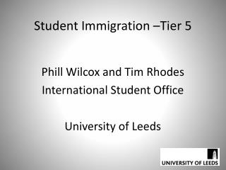 Student Immigration �Tier 5