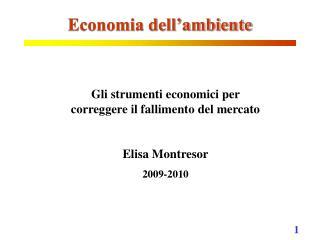 Economia dell�ambiente